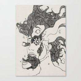 Broken into pieces Canvas Print