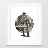 pilot Framed Art Prints featuring Pilot by Kalegiro