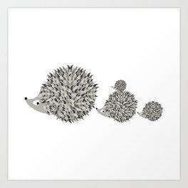 Hedgehogs family Kunstdrucke