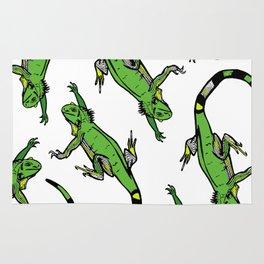 Rainforest Collection - Iguanas Rug