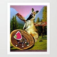 vegetarian Art Prints featuring Vegetarian  by Stephie B