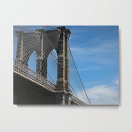 Somewhere Under the Brooklyn Bridge Metal Print