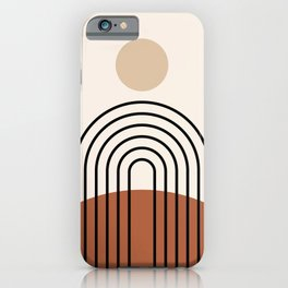 Abstraction_SUN_LINE_BOHEMIAN_LANDSCAPE_POP_ART_1129B iPhone Case