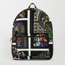Stained Glass Windows Collage Backpack
