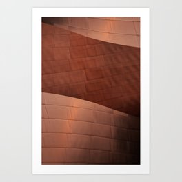 Architectural abstract of the home to the LA Philharmonic, Architect: Frank Gehry Art Print