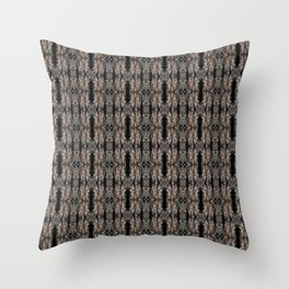 Pine Bark Pattern by Debra Cortese Design Throw Pillow