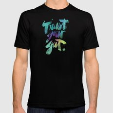 Trust your Gut Black Mens Fitted Tee MEDIUM