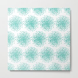 Abstract bright turquoise dotted background Metal Print