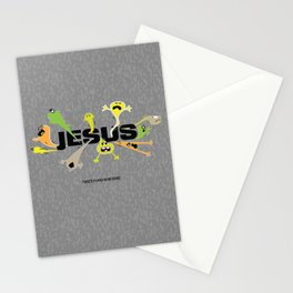 Scary Jesus Stationery Cards