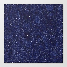 Awesome allover Stars 01B Canvas Print