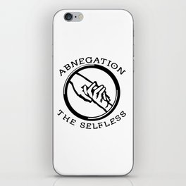Divergent - Abnegation The Selfless iPhone Skin