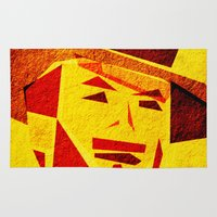 clint eastwood Area & Throw Rugs featuring Clint by Triplea