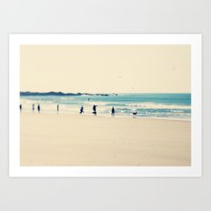 beach sunday Art Print