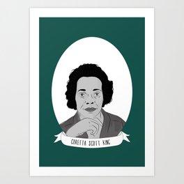 Coretta Scott King Illustrated Portrait Art Print