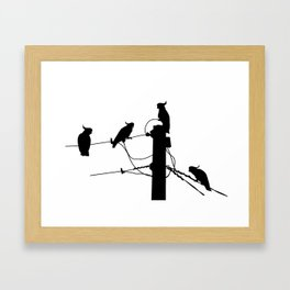 Cockatoo Silhouette Framed Art Print