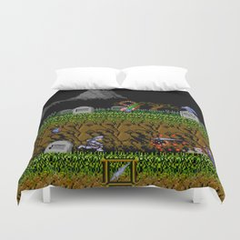 Ghost And Goblins Gameplay Duvet Cover