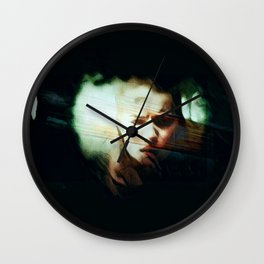 A Darker Hiding Place Wall Clock