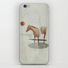 Take The Money and Run iPhone Skin