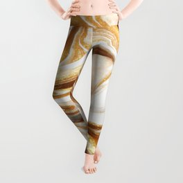MARBLE CREAM Leggings