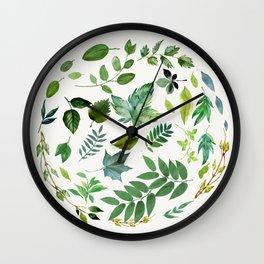 Circle of Leaves Wall Clock