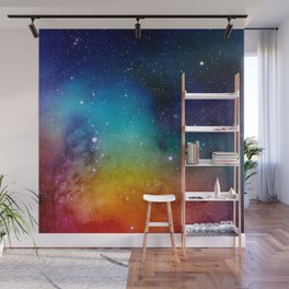 Colorful watercolor Galaxy Decoration Abstract Wall Mural