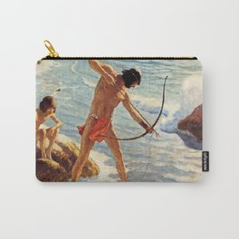"N C Wyeth Painting ""The First Maine Fishermen"" Carry-All Pouch"