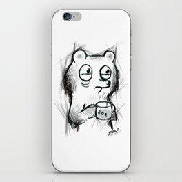 cup of joe caffeinated bear iPhone Skin