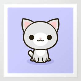 Kawaii Kitty 1 Art Print