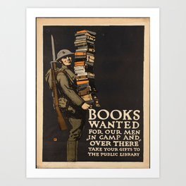 Vintage poster - Books Wanted Art Print