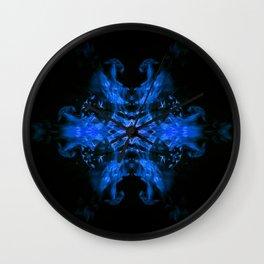 Blue Fire Dragons Wall Clock