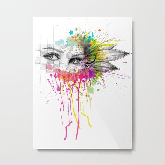 Beautiful Flower Eyes Metal Print