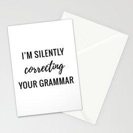 Silently Correcting Stationery Cards
