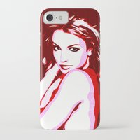 britney spears iPhone & iPod Cases featuring Britney Spears - Pop Art by William Cuccio aka WCSmack