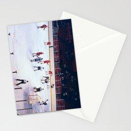 Vintage Ice Hockey Match Stationery Cards