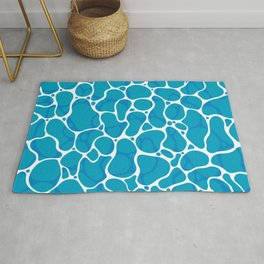 The Great Sea: Graphic Ocean Water Pattern Rug