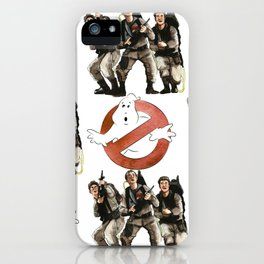 Vintage Ghostbusters Fan Art Illustration iPhone Case