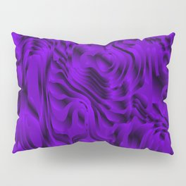 Blurry interweaving of violet spots from the bright flowing lava and colored symmetrical blots. Pillow Sham