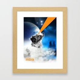 Lasereyes Monk (Full edition) Framed Art Print