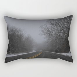 Winter road Rectangular Pillow