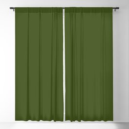 Dark Olive Green Sage - Pure And Simple Blackout Curtain