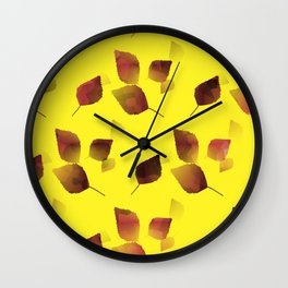 Autumn Tumble Wall Clock