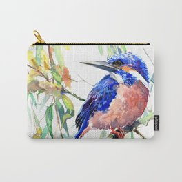 Kingfisher and Willow Carry-All Pouch