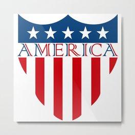 America Flag Vector Metal Print
