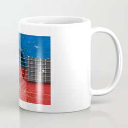 Old Vintage Acoustic Guitar with Filipino Flag Coffee Mug