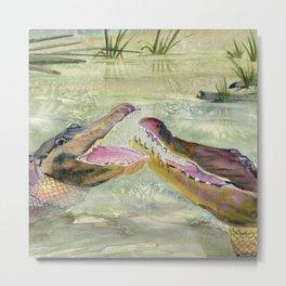 Alligator Study  Metal Print