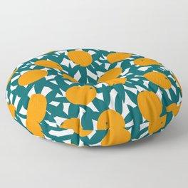 Art Deco Minimalist Orange Grove Floor Pillow