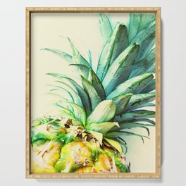 Green Pineapple Serving Tray
