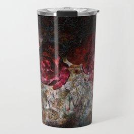 Red roses grunge Travel Mug