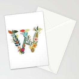 Monogram Letter W Stationery Cards
