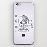 blueprint iPhone & iPod Skins featuring Blueprint by CromMorc